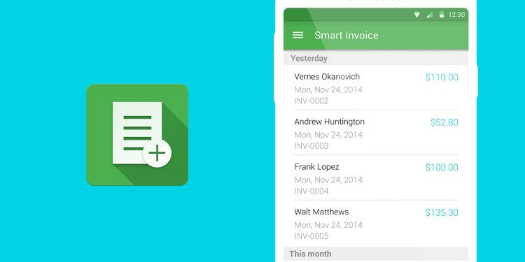 5 best invoicing apps for android – simple, minimal, powerful, Invoice templates