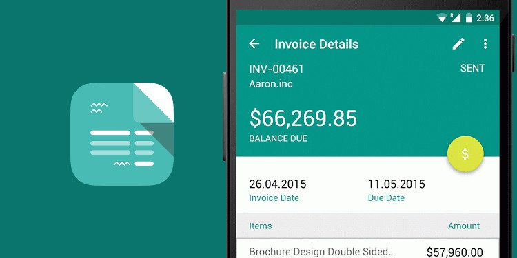 Best Invoicing Apps For Android Simple Minimal Powerful - Invoice template for android phone