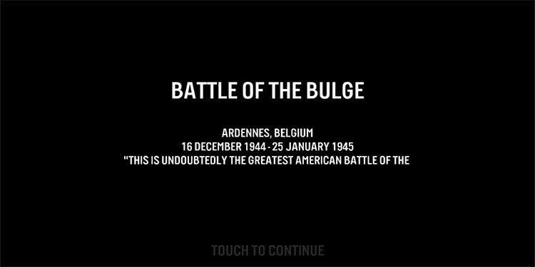"""This is the first segment, """"Battle of the Bulge"""""""
