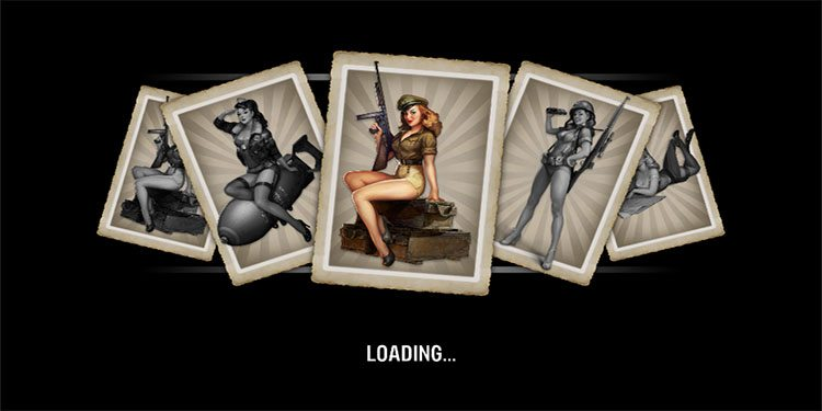 Sweet loading screen, might be even better if they were playing cards