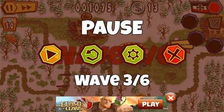 The pause menu