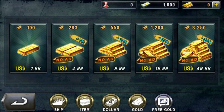 We can also purchase gold (again) with real money