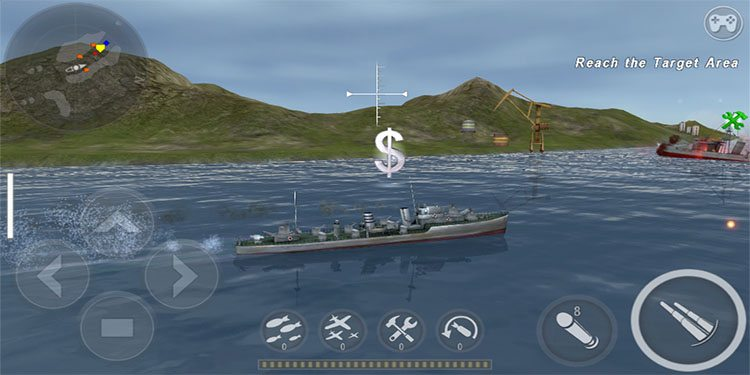 As you blow up ships you get money