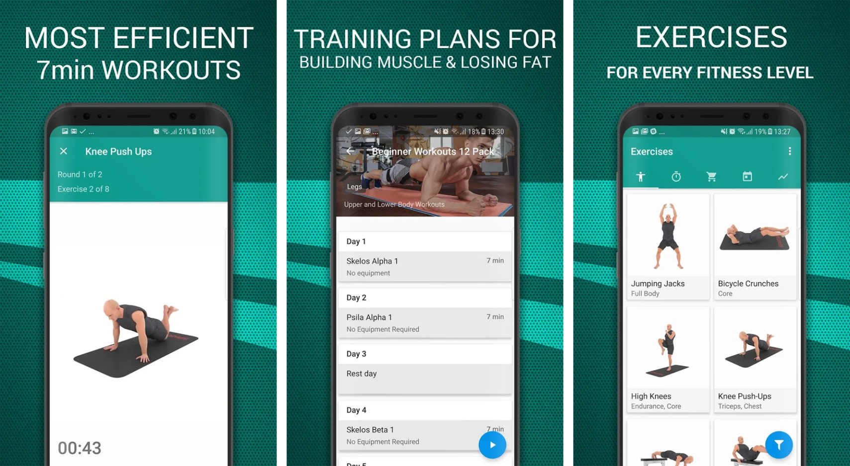 seven minute workout apps
