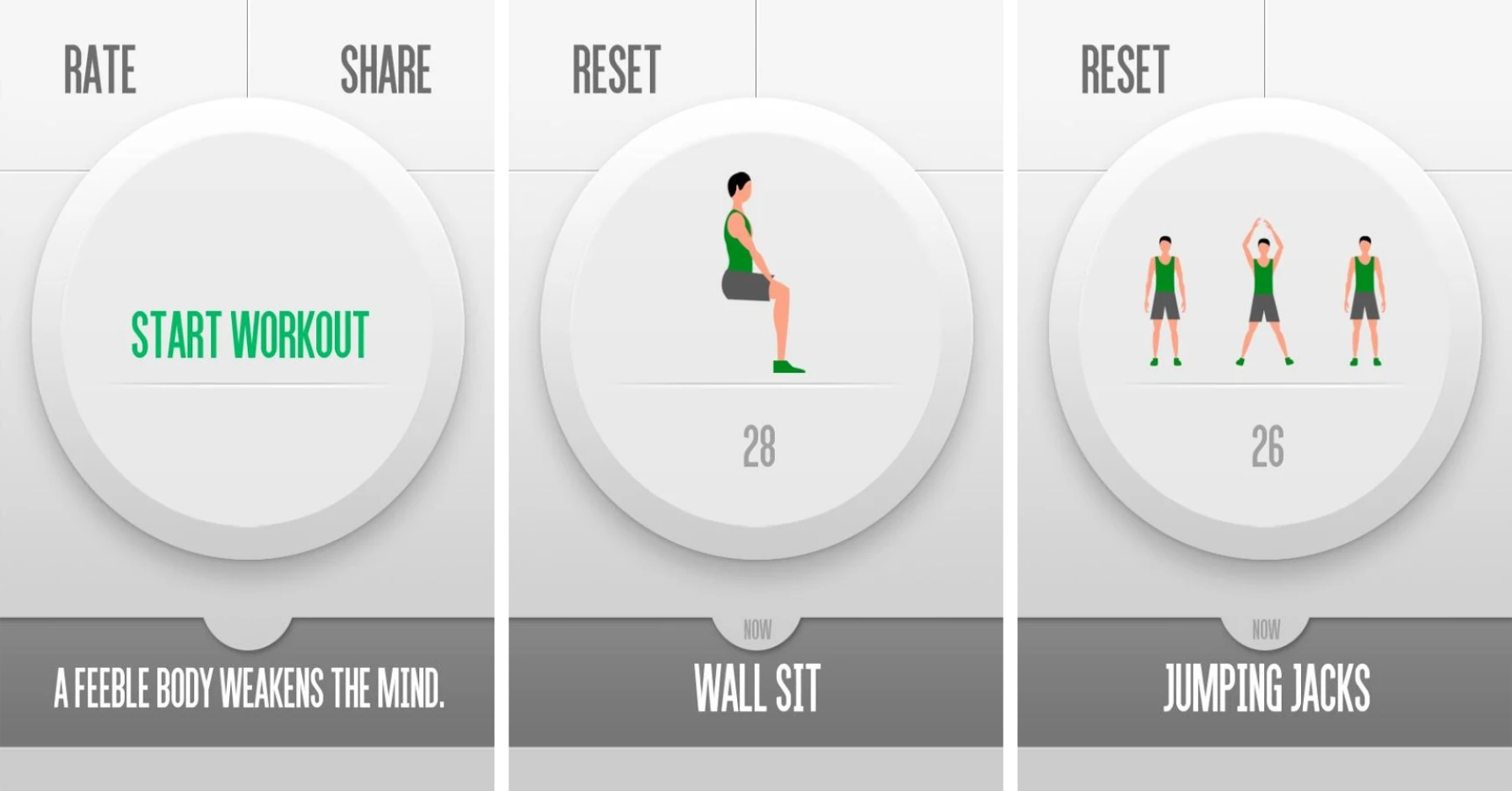 the most minimal 7-minute workout app