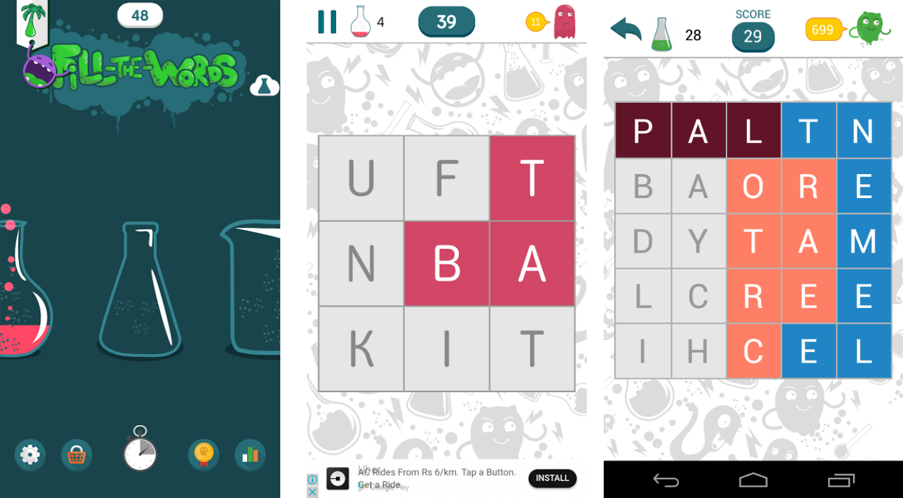 Fill The Words word game app